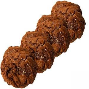 4 x Salted Rye Chocolate Cookies/Cookies de Chocolate e Sal Marinho