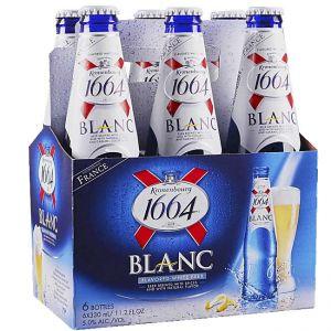 6 x  1664 Beer White Blanc