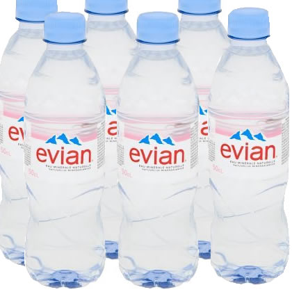6 x Evian Mineral Water