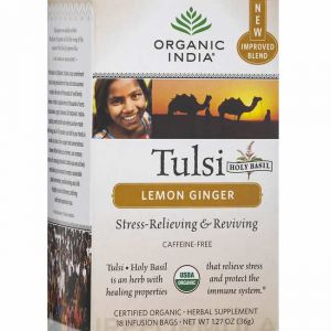 Tulsi Lemon Ginger Tea Box