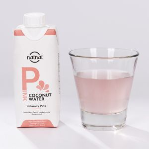 100% Naturally Pink Coconut Water