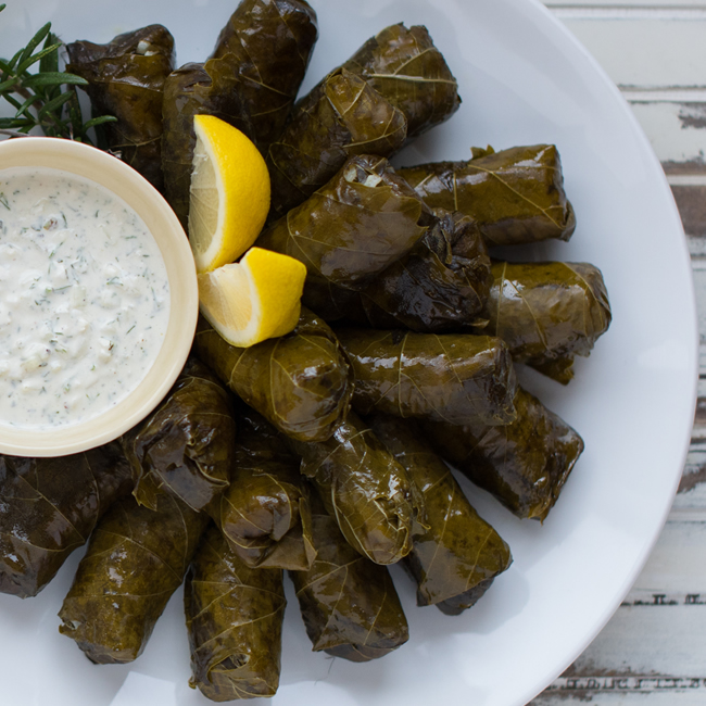 Dolmades Vine Leaves Stuffed with Rice