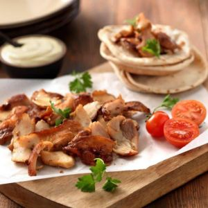 Authentic Grilled Chicken Gyros - Precooked & Sliced