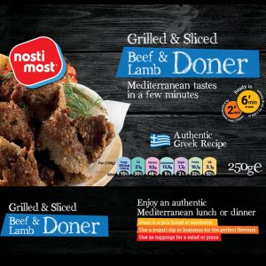 Grilled Beef/Lamb Donner - precooked & sliced