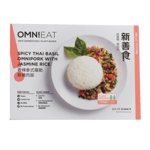 Vegan Thai Basil OmniPork With Jasmine Rice