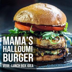 Mama's Halloumi Vegetarian Burger