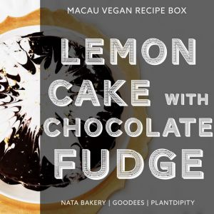 Vegan Lemon & Chocolate Fudge Cake