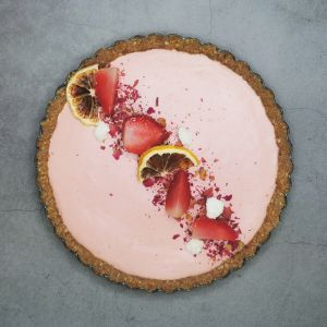 Raw Vegan Pink Lemonade Tart