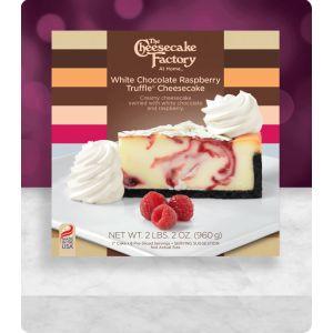 """6"""" White Chocolate Raspberry Truffle Cheesecake"""